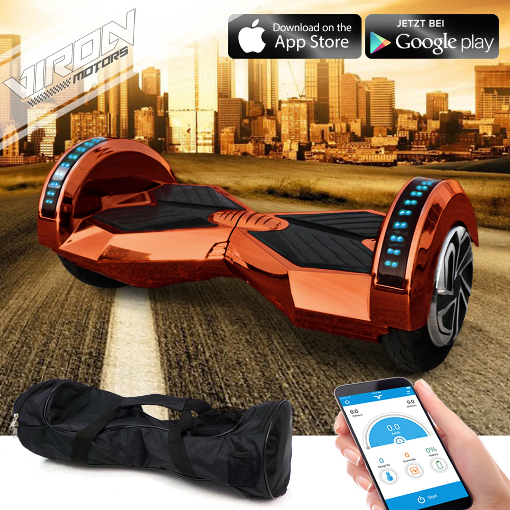 E-Balance Scooter - Weaver Hoverboard Smart Elektro Skateboard Elektroroller Bronze Chrome