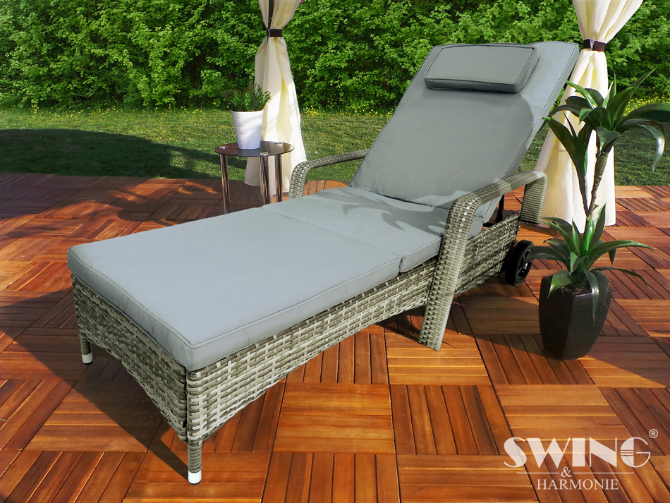 Great Polyrattan Liege Relax With Polyrattan Doppelliege