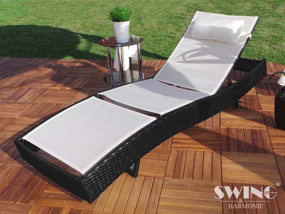 Gartenmobel Bei Depot : verstellbare Rückenlehne + Nackenkissen + pulverbeschichteter Rahmen