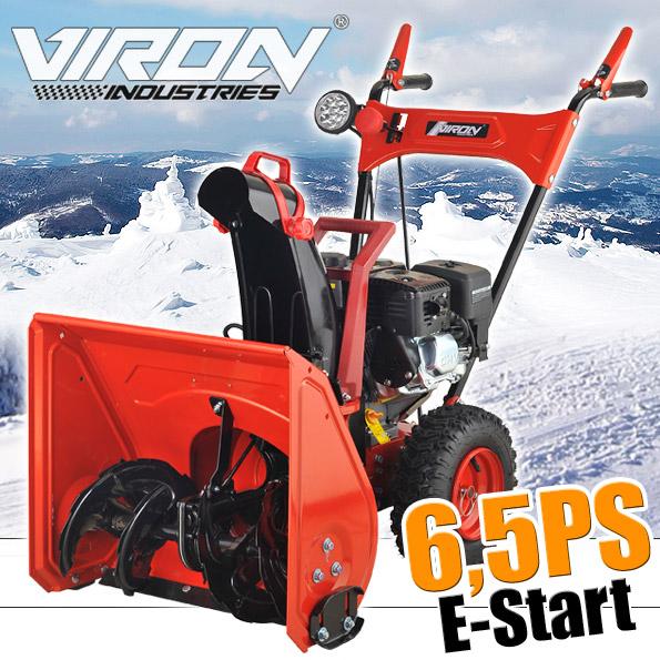 Schneefräse 6,5 PS<br> mit E-Start<br>Schneeschieber