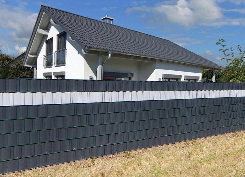 35m sichtschutz rolle pvc zaunfolie windschutz blickdicht doppelstabmatten zaun ebay. Black Bedroom Furniture Sets. Home Design Ideas