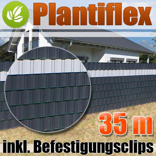 35m sichtschutz rolle pvc zaunfolie windschutz blickdicht doppelstabmatten zaun. Black Bedroom Furniture Sets. Home Design Ideas