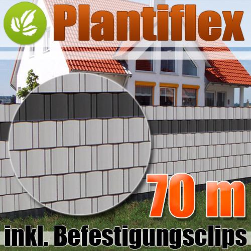 Doppelstabmatten Sichtschutz Grau : Sichtschutz-Streifen Zaun-Tex ...