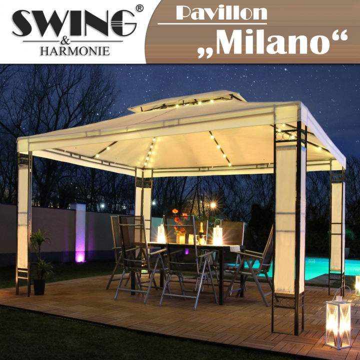 led pavillon 3x4m milano evemotion gmbh. Black Bedroom Furniture Sets. Home Design Ideas